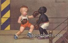 spo005878 - Boxing Postcard Post Card Old Vintage Antique