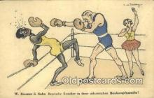 spo005879 - Boxing Postcard Post Card Old Vintage Antique