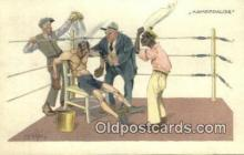 spo005889 - Boxing Postcard Post Card Old Vintage Antique