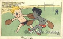 spo005891 - Boxing Postcard Post Card Old Vintage Antique