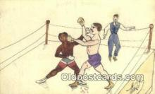 spo005894 - Boxing Postcard Post Card Old Vintage Antique