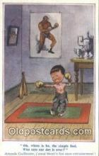 spo005899 - Boxing Postcard Post Card Old Vintage Antique