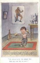 spo005901 - Boxing Postcard Post Card Old Vintage Antique