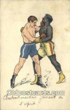 spo005902 - Boxing Postcard Post Card Old Vintage Antique