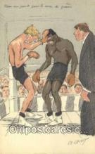 spo005906 - Boxing Postcard Post Card Old Vintage Antique