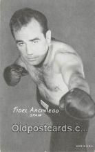 Fidel Arciniego Boxing Postcard Post Card