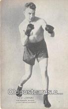 Leo Lomski Boxing Postcard Post Card