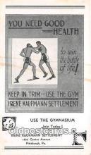 Boxing Postcard Post Card