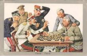 spo007007 - Checkers, Chess Postcard Postcards