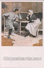 spo007011 - Checkers, Chess Postcard Postcards