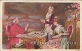 spo007020 - Checkers, Chess Postcard Postcards