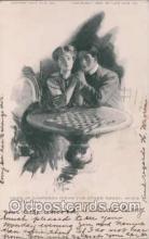 spo007024 - Checkers, Chess Postcard Postcards