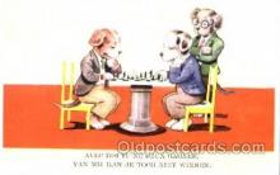 spo007057 - Chess Playing Postcard Postcards