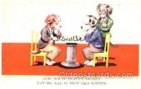 spo007059 - Chess Playing Postcard Postcards