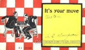 spo007064 - Chess Playing Postcard Postcards