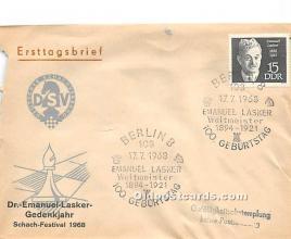 Berlin, Dr Emanuel Lasker Gedenkjahr 1968