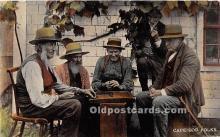 spo007101 - Old Vintage Chess / Checkers Postcard Post Card