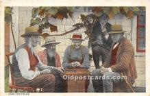 spo007107 - Old Vintage Chess / Checkers Postcard Post Card