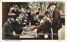 spo007109 - Old Vintage Chess / Checkers Postcard Post Card