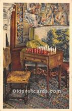 spo007110 - Old Vintage Chess / Checkers Postcard Post Card