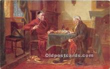 spo007111 - Old Vintage Chess / Checkers Postcard Post Card