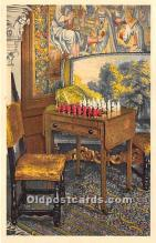 spo007112 - Old Vintage Chess / Checkers Postcard Post Card