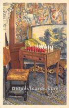 spo007120 - Old Vintage Chess / Checkers Postcard Post Card