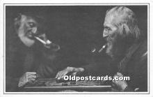 spo007125 - Old Vintage Chess / Checkers Postcard Post Card