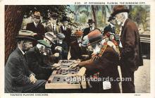 spo007130 - Old Vintage Chess / Checkers Postcard Post Card