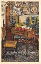 spo007134 - Old Vintage Chess / Checkers Postcard Post Card