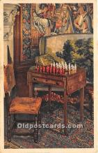 spo007136 - Old Vintage Chess / Checkers Postcard Post Card