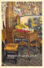 spo007137 - Old Vintage Chess / Checkers Postcard Post Card