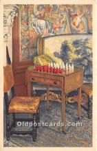 spo007139 - Old Vintage Chess / Checkers Postcard Post Card