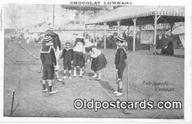spo008004 - Chocolate Lombart Advertising, Croquet Postcard Postcards