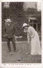 spo008025 - Croquet Mr. Oscar Asche & Miss Lily Brayton Postcard Postcards