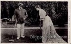 spo008027 - Croquet Mr. Oscar Asche & Miss Lily Brayton Postcard Postcards