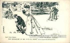 spo008029 - Croquet Artist Dana Gibson Postcard Postcards
