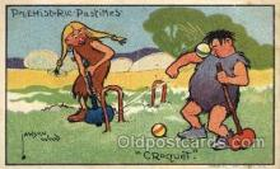 spo008036 - Artist Lawson Wood, Croquet Postcard Postcards