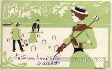 spo008037 - Croquet Postcard Postcards