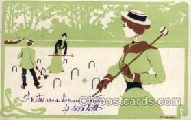spo008037 - Croquet Postcard Postcards