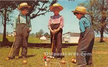 spo008051 - Old Vintage Croquet Postcard Post Card