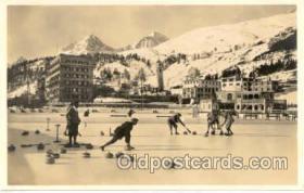 spo009007 - St. Moritz, Curling Postcard Postcards