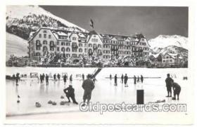 spo009008 - Cresta Palace, Celerina, Curling Postcard Postcards