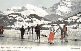 spo009055 - Old Vintage Curling Postcard Post Card