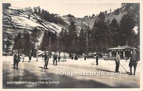 spo009059 - Old Vintage Curling Postcard Post Card