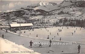 spo009062 - Old Vintage Curling Postcard Post Card