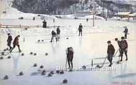 spo009077 - Old Vintage Curling Postcard Post Card