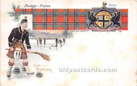 spo009084 - Old Vintage Curling Postcard Post Card