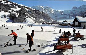 Lenk, Berner Oberland, Eis und Curling Bahn, Wildstrubel