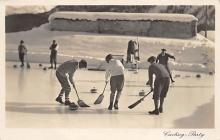 spo009A001 - Montreux, Switzerland Real Photo Curling Postcard Post Card